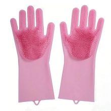 Многофункциональные силиконовые перчатки Magic Brush, Розовый