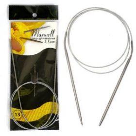 Спицы круговые на тросиках Maxwell Black 80 см арт.#9 3,5мм