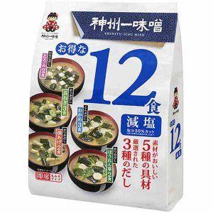 Мисо-суп Shinsyuichi 12 порций 5 вкусов.
