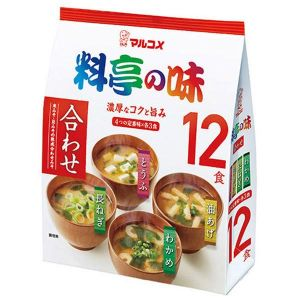 Мисо-суп Marukome 12 порций 4 вкуса.