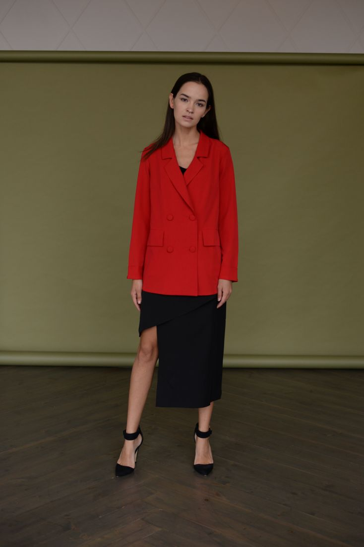 m1764 Асимметричная юбка черная