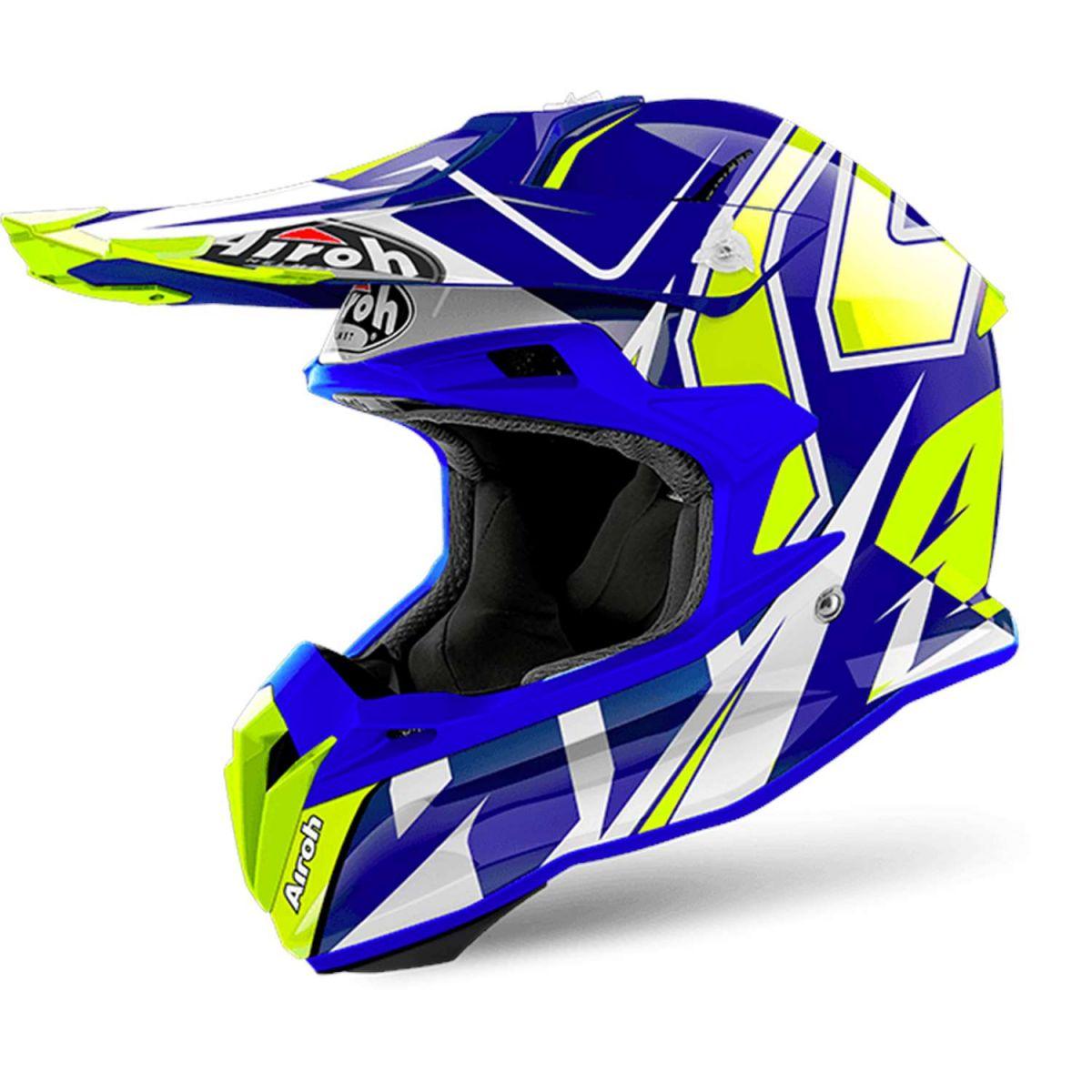 Airoh - Terminator Open Vision Shock Blue шлем, синий