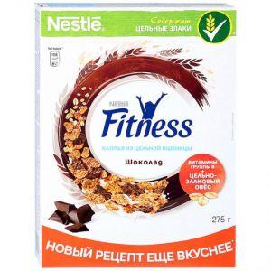 Хлопья Nestle Fitness из цельной пшеницы с шоколадом 275г