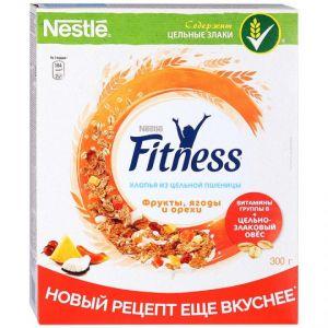 Хлопья Nestle Fitness из цельной пшеницы ягоды орехи 300г