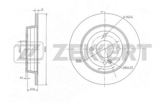 Тормозной диск  Solaris/Rio 3 задний Zekkert bs-5275