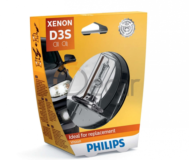 Лампа ксенон D3S 4400K PHILIPS 42403VIS1