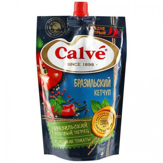 Кетчуп Calve средне острый Бразильский 350г