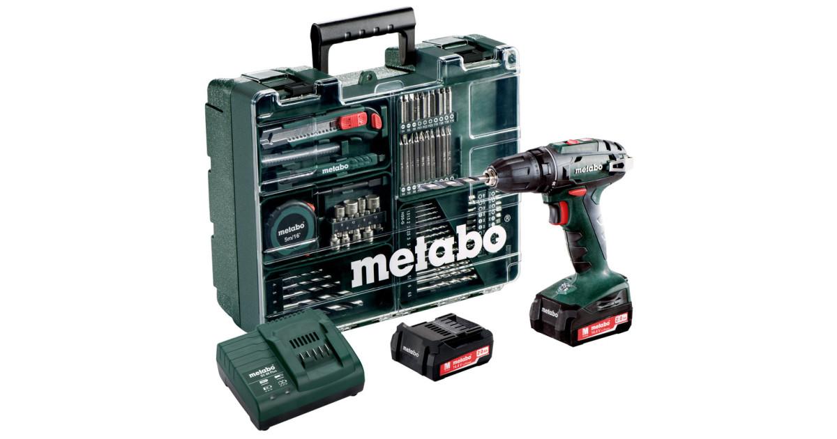 Дрель-шуруповерт Metabo BS 14.4 10мм 2.0Ah x2 Case Set (602206880)