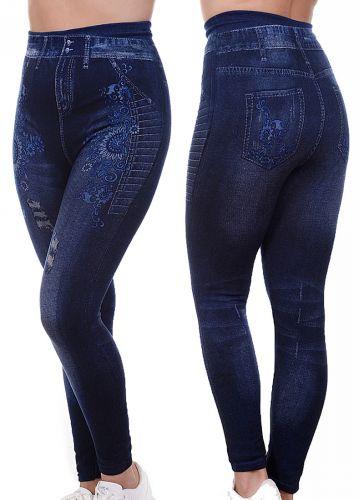 Джеггинсы для женщины теплые, размер 50-54 LS029