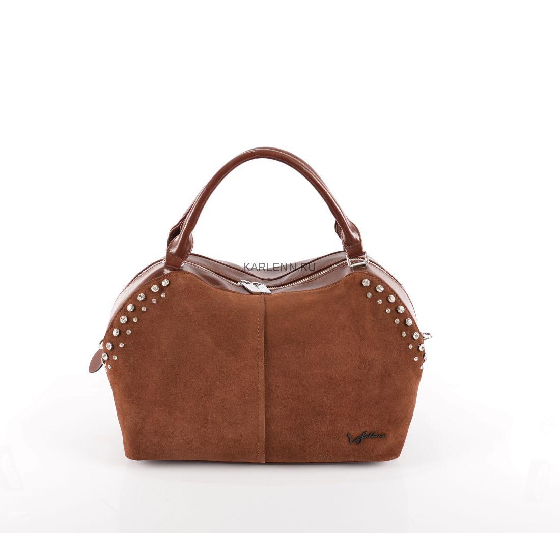 Классическая женская сумка Velina Fabbiano (коньячная)