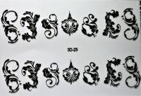Слайдер-дизайн 3D-025 (черные) на водной основе