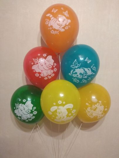 Детские Рисунки латексные шары с гелием