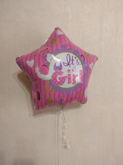 Звезда девочка шар фольгированный с гелием