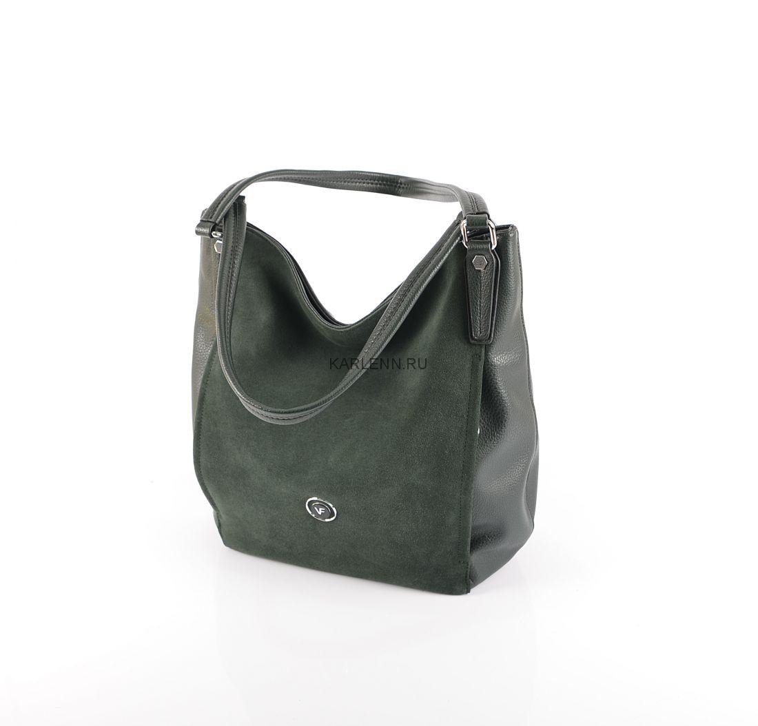 Сумка-мешок Velina Fabbiano (зелёная)