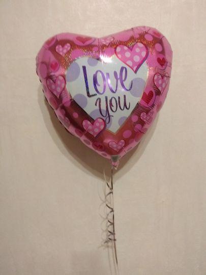 Сердце переливающееся шар фольгированный с гелием
