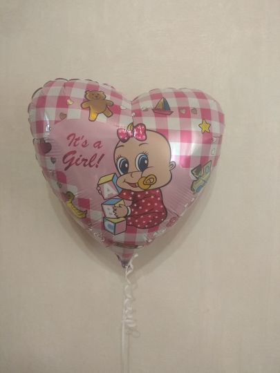 Сердце для любимой малышки - девочки шар фольгированный с гелием