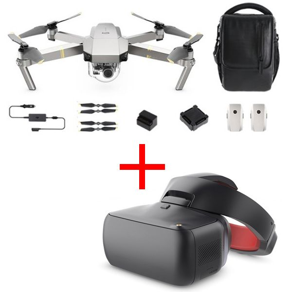 Квадрокоптер DJI Mavic Pro Platinum Combo + Goggles Racing Edition