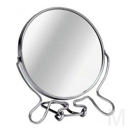 Зеркало настольное двухстороннее с увеличением 9 см