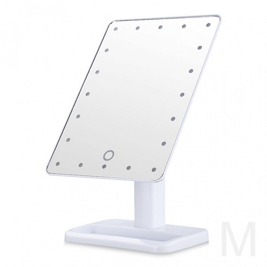 Зеркало Large LED Mirror (белое)