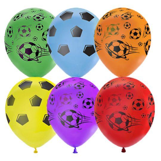 Футбол разноцветные латексные шары с гелием