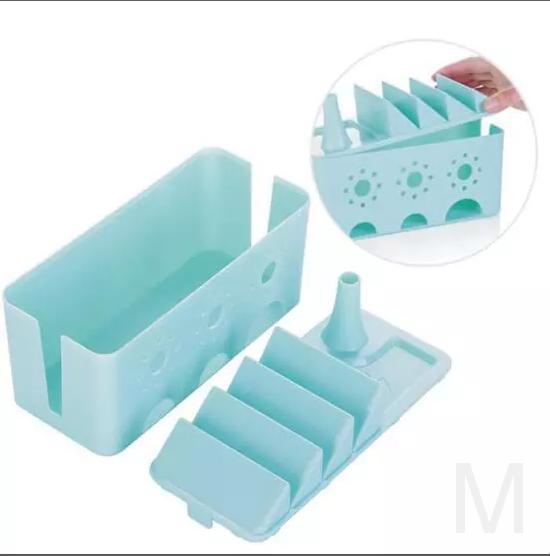 Многофункциональный органайзер для удлинителя WIRE BOX (голубой)