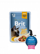 Brit Premium Cat Pouch with Tuna Fillets in Gravy for Adult Cats  КУСОЧКИ ИЗ ФИЛЕ ТУНЦА В СОУС (85гр)