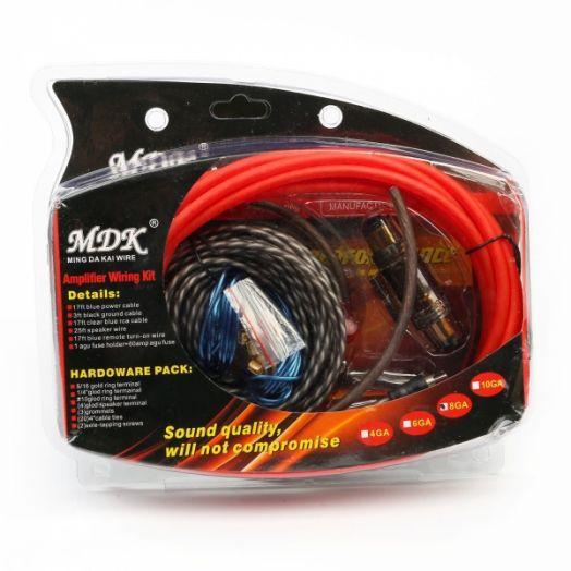 Набор кабелей для автоакустики MDK 8GA (5м)