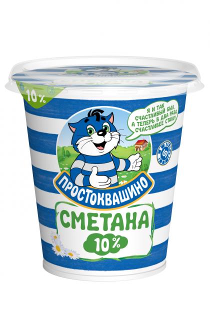 Сметана  Простоквашино  10% стакан 0,315