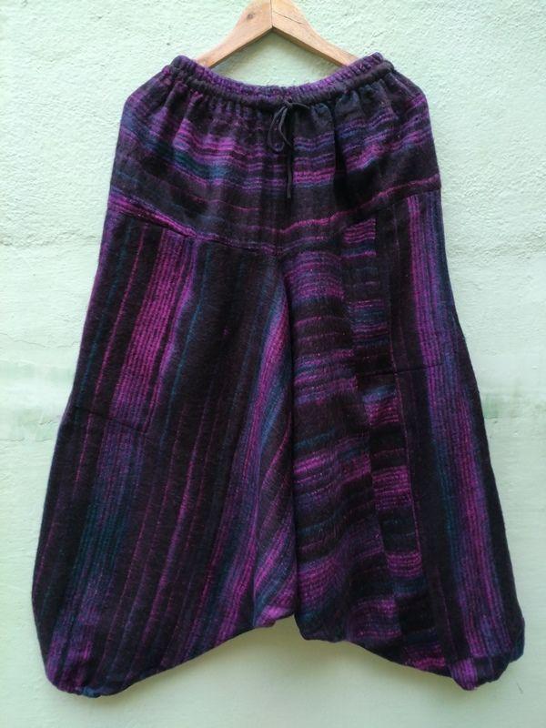 Тёплые штаны афгани чёрного цвета, унисекс (отправка из Индии)