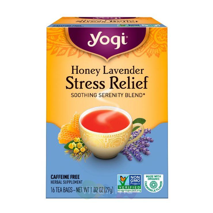 Yogi Tea Успокаивающий Чай с медом и лавандой Stress Relief, 16 пакетиков