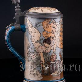 Выпивоха на Олимпе, 1/2 л, Mettlach, Германия, 1892 г.