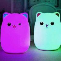 Мягкий силиконовый ночник Colorful Silicone Lamp, Мишка (3)