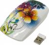 Беспроводная мышь Smartbuy SBM-327AG-FL-FC Full-Color цветы белый