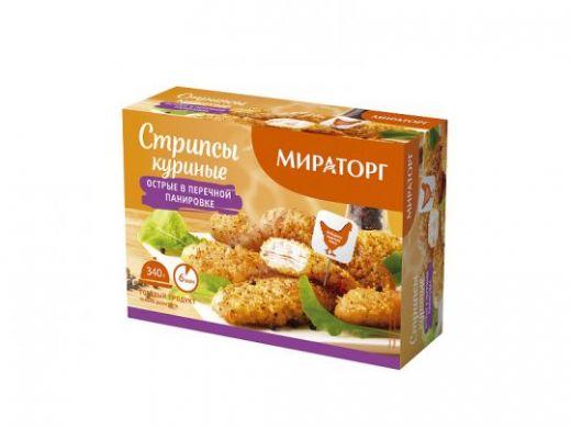 Стрипсы куриные Мираторг в перченой панировке, 340г