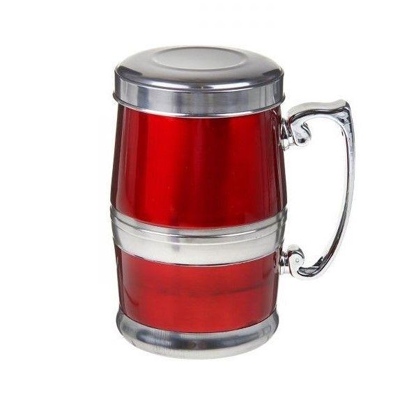 Стальная термокружка Green Tea Stainless Steel Wear, 380 мл, цвет красный