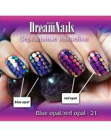 Зеркальные наклейки Blue Opal 19 Dream Nails (водные наклейки)