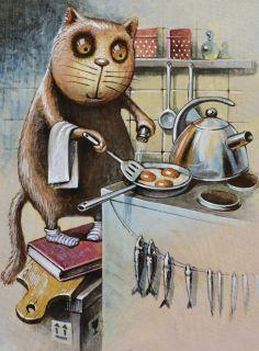 Почтовая открытка Omelette.