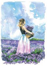 Почтовая открытка Лавандовая нежность