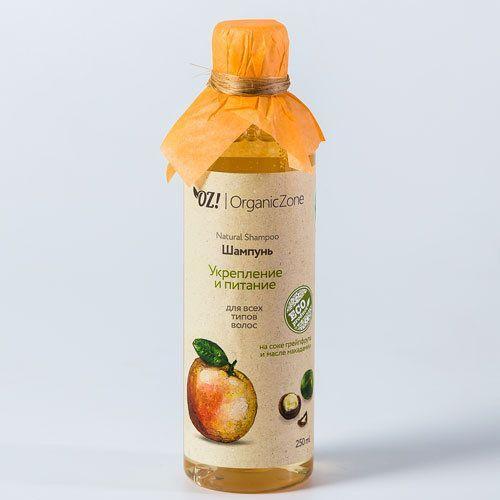 """ОрганикЗон - Шампунь """"Укрепление и питание""""  для всех типов волос"""