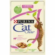 Cat Chow Влажный корм для кошек Ягненок и зеленая фасоль в желе (пауч) 85 г