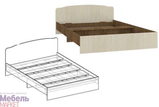 Спальня Светлана - Кровать с фигурной спинкой 900 (ясень шимо)