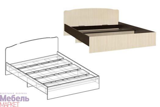 Спальня Светлана - Кровать с фигурной спинкой 900 (венге/дуб)