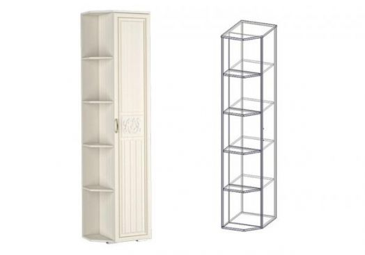 """Шкаф-стеллаж правый (540) """"Виктория"""""""