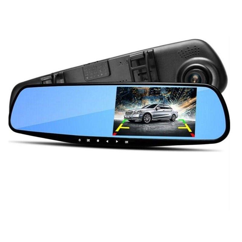 Автомобильный видеорегистратор - зеркало с камерой заднего вида Vehicle Blackbox DVR