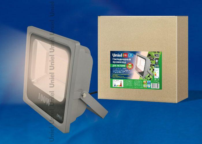 Прожектор для растений Uniel прожектор 100W ULF-P40-100W/SPFR IP65