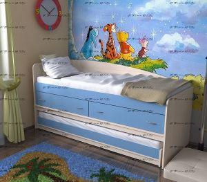 Кровать двухъярусная трансформер Дуэт-12