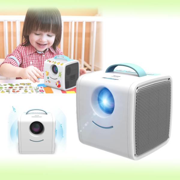 Детский LED проектор с встроенной колонкой Kids Story Q2