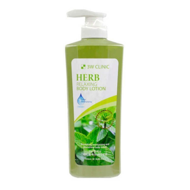 """[3W CLINIC] Лосьон для тела ТРАВЫ """"Relaxing Body lotion"""" 550 мл"""