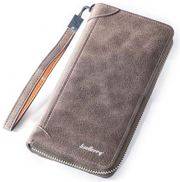 Мужское портмоне Baellerry замшевое, цвет коричневый