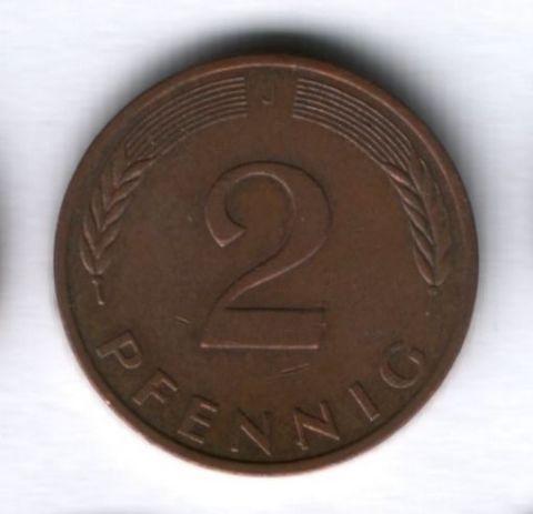 2 пфеннига 1985 года ФРГ Германия